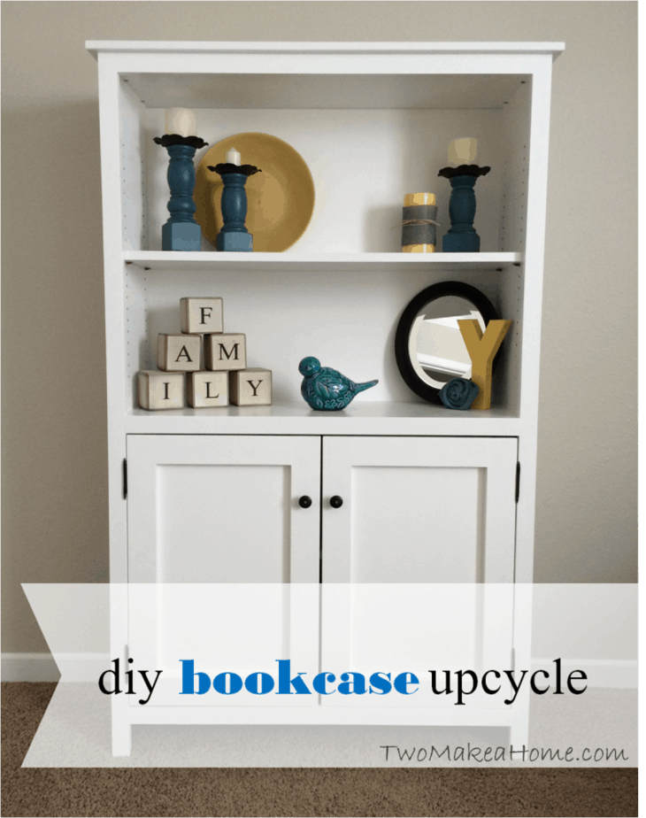 Diy bookcase upcycle two make a home for How to diy bookshelf