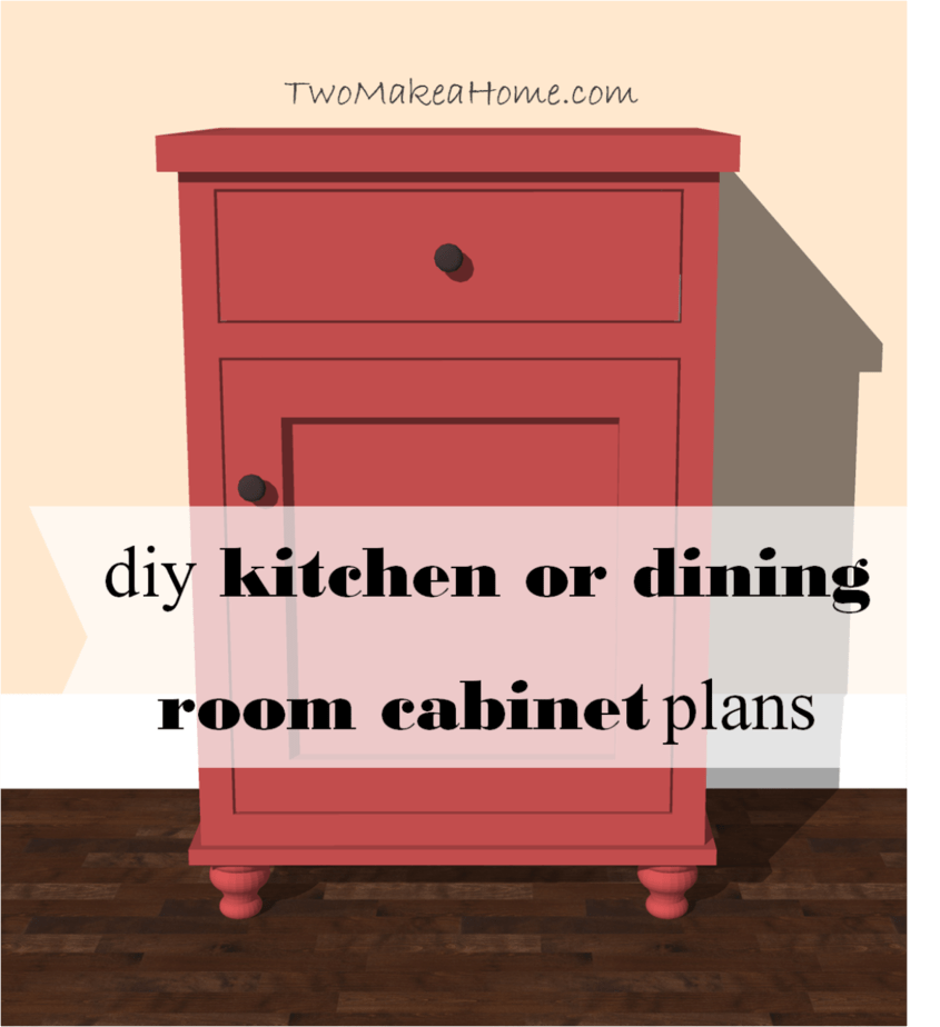 Diy Kitchen Cabinet Plans: Kitchen Or Dining Room Storage Cabinet