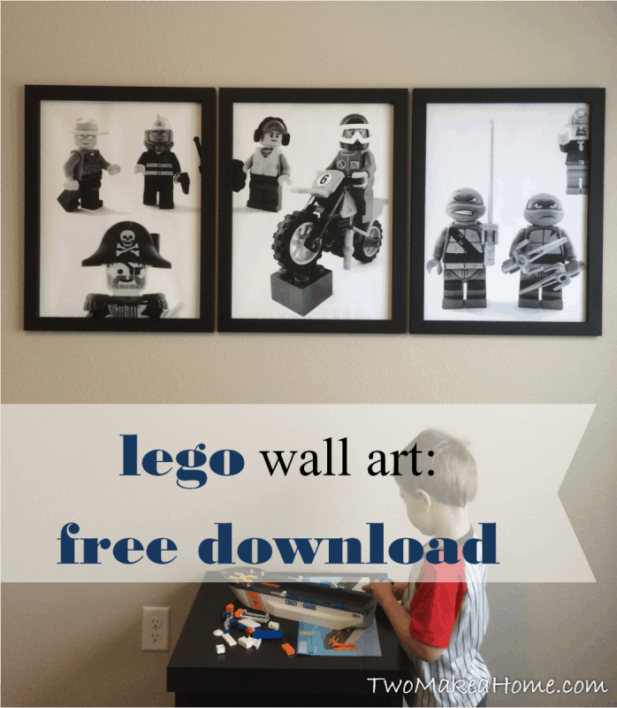 how to make lego wall art for a boy 39 s room two make a home. Black Bedroom Furniture Sets. Home Design Ideas