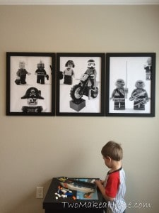 How to Make Inexpensive LEGO Wall Art for A Boy's Room