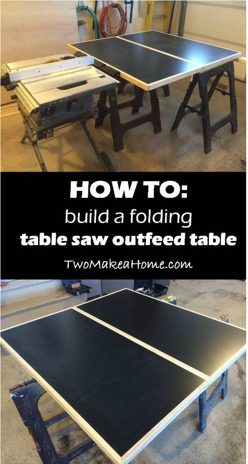 how to: build a folding table saw outfeed table