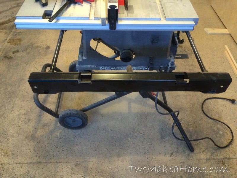 Building a folding table saw outfeed table two make a home for 12 inch portable table saw
