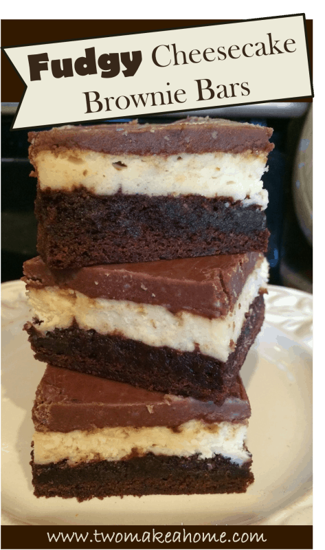 Fudgy, Cheesecake Brownie Bars